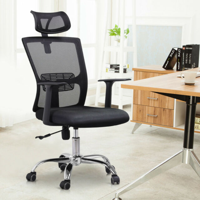 Marvelous High Back Mesh Office Chair Adjustable Ergonomic Swivel Computer Desk Task Chair Home Interior And Landscaping Transignezvosmurscom