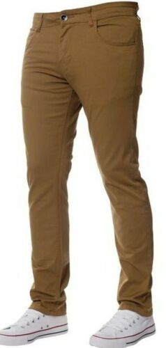 Men/'s Peviani Designer SABBIA SLIM FIT CASUAL ELEGANTE Wear Look Pantaloni Chino Pantaloni