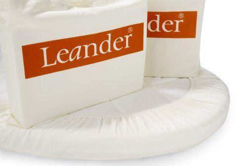 Leander Spannbettlaken für Babybett oder Linea in 70x120 cm weiß 2er Set