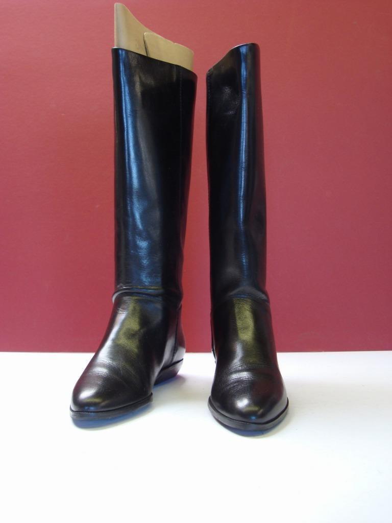 Etienne Aigner noir bottes cavalières hautes Sz 5 1 2 M  Diane  avec ORIG BOX