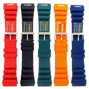 Tough-PU-SCUBA-Divers-Watch-Strap-ND-Limits-18mm-20mm-22mm-24mm-5-Colours-C038