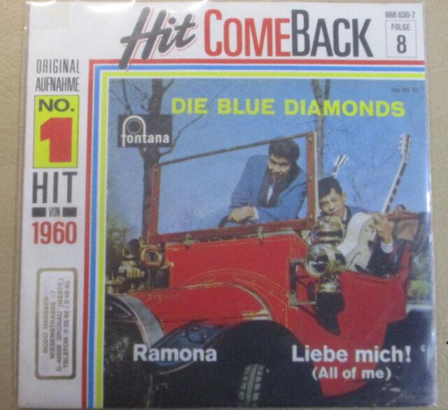 "7"" Vinyl Hit Come Back, Die Blue Diamonds ""Ramona, Liebe mich """