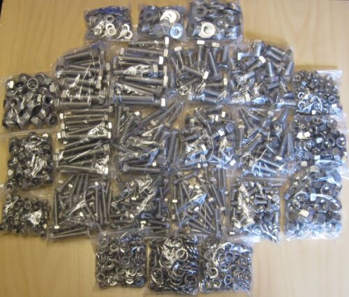 Metric Stainless Steel Bolts Project Pack Nuts /& Washer 1550