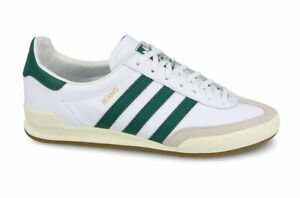 Cumplimiento a Anciano Mercado  adidas Originals Jeans Trainers - White/Green - BB7440 - Size UK 7-11 | eBay