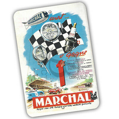 Marchal Court Et Gagne French Racing Design Reproduction 8x12 Aluminum Sign