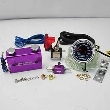 "PURPLE DUO SETTING ROCKET SWITCH TURBO BOOST CONTROLLER+2"" LED 35PSI BOOST GAUGE"