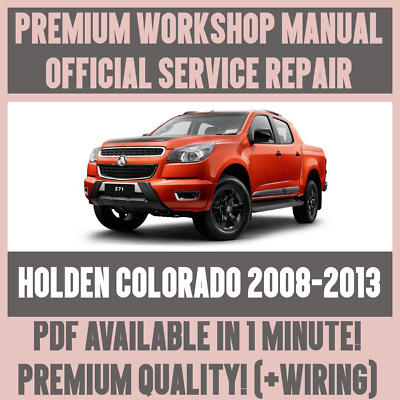 workshop manual service & repair guide for holden colorado 2008-2013  +wiring | ebay  ebay