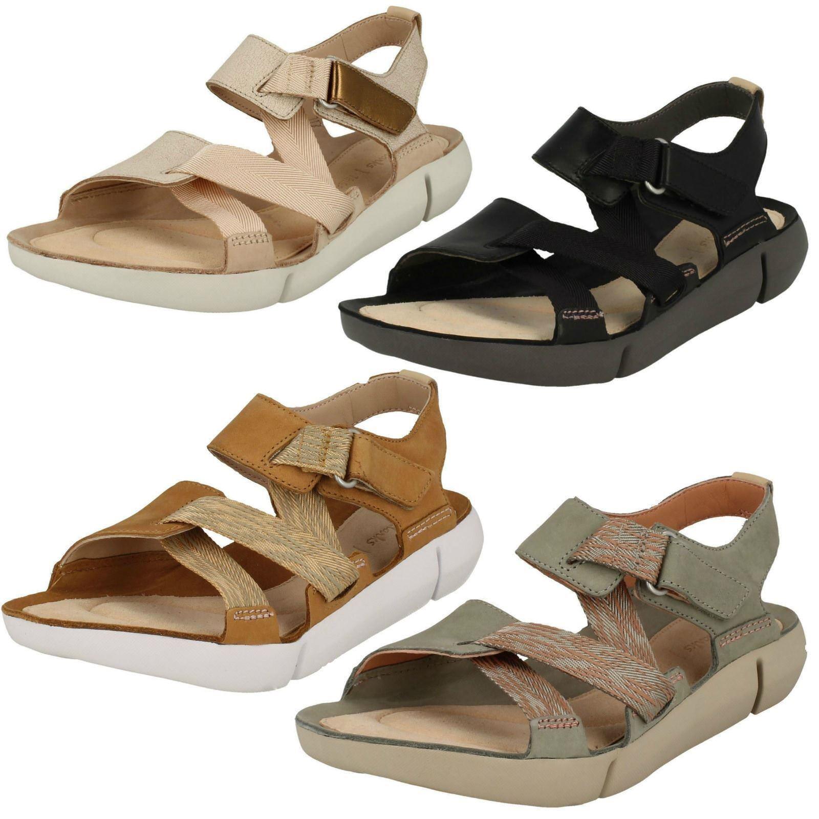 Damen Clarks Leder Niedriger Absatz Größe Freizeit Sport Sandalen Schuhe Größe Absatz Drei b90dcc