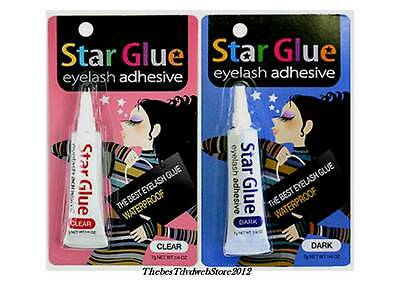 Star Glue Eyelash Adhesive Glue For False Eyelash Dark & Clear 7g 0.1/4oz -2-NEW