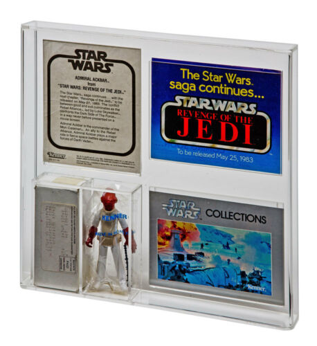 GW Acrylic Mail away Display Case ESB Admiral Ackbar /& ROTJ Nien Nunb