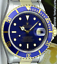 ROLEX-Mens-18kt-Gold-amp-Stainless-Steel-Submariner-Blue-Index-16613-SANT-BLANC thumbnail 2