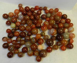 12138m-Vintage-Group-or-Bulk-Lot-of-100-Agate-and-Stone-Marbles