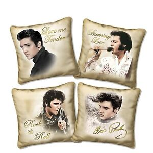 Licensed-Elvis-Presley-Golden-Moments-pillow-Four-Fabric-Cushion-Collection