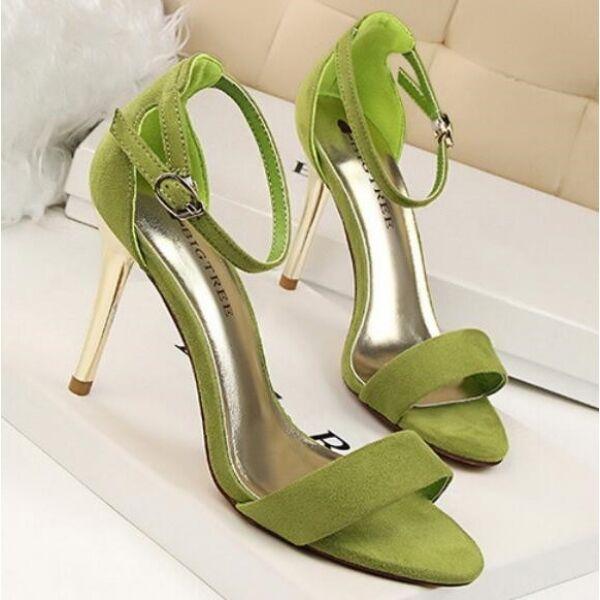 Eleganti 9 Stiletto Simil Donna Cm Comodi Verde Qmspzvu Sandali UVqjLzGSMp