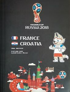 Details about 2018 FIFA WORLD CUP FINAL FRANCE v CROATIA A4 SIZE PROGRAMME  RUSSIA