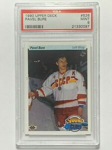 Pavel-Bure-1990-Upper-Deck-Young-Guns-NHL-Rookie-RC-Card-PSA-MINT-9