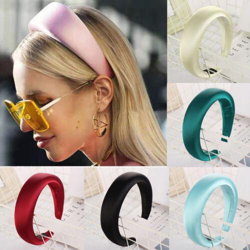 Padded Wide Sponge Glitter Women Headband Candy Color Hair Hoop