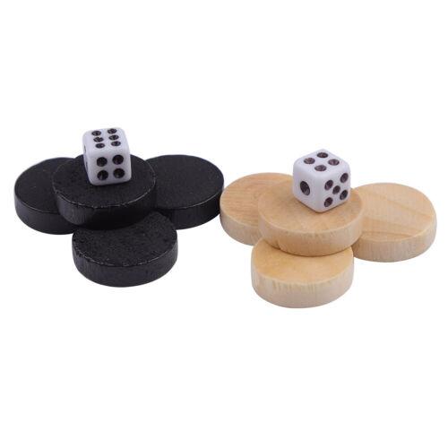 Details about  /Scacchiera 32 Pezzi Bozze E Pedine E Backgammon Chess Piece Per Bambini Che