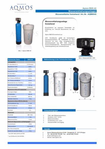 Wasserenthärtungsanlage Entkalkungsanlage Aqmos BMX-40 Wasserenthärter