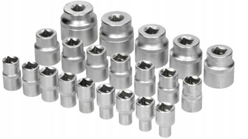Cannelé-NUESSE-TORX-Noix Steckschluessel-taux 1-2 pouces-Outil-set-21-tlg-8-36