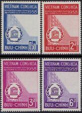 VIETNAM du SUD N°81/84* UNESCO TB, 1958 South VietNam Sc#92-95 MH