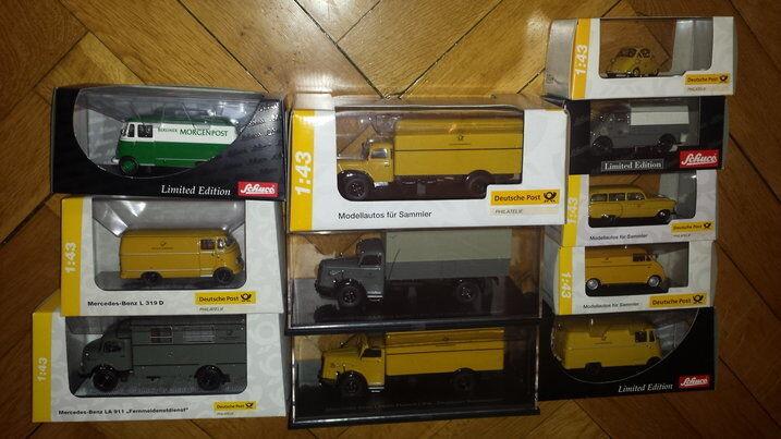 11 SCHUCO U. MINICHAMPS U. Premium Classic, etc. Camions Voitures U. postmodell neuf dans sa boîte .