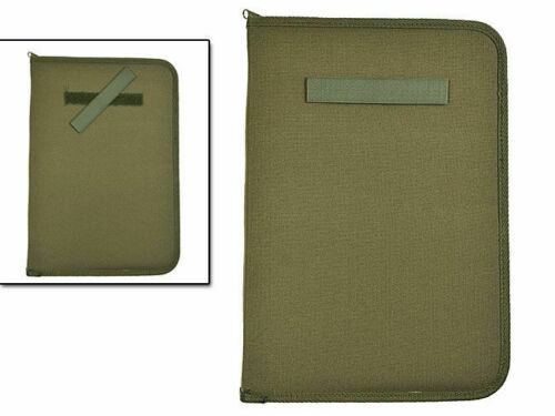 Mil-Tec BW Army Kommandeurs Mappe Schreibmappe DIN A4 Dokumentenmappe Oliv OD