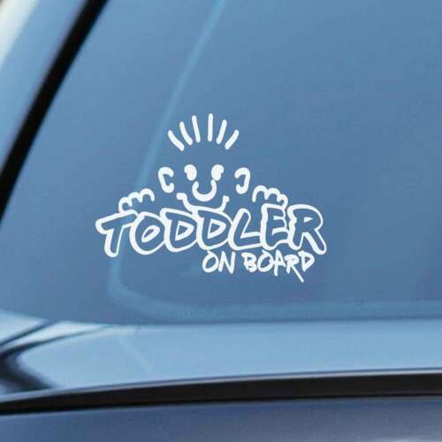 Toddler on board Baby Child Window Bumper Car Sign Decal Sticker