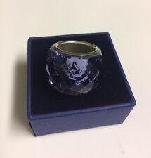 NEW SWAROVSKI NIRVANA RING TANZANITE BLUE SIZE EUR 55/7   892212