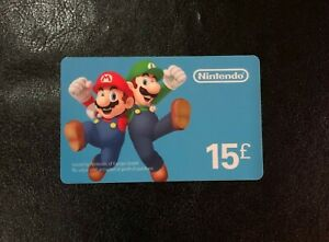Nintendo Super Mario and Luigi eShop Souvenir Prepaid Gift Card (Used no value)