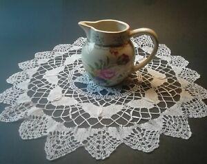 1950s-Irish-White-Lace-Doily-Handmade-Vintage-Bobbin-Lace-Butterflies