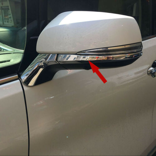 Rearview Mirror Molding Cover Trims Fit Toyota Alphard 2016 2017 ABS Chrome