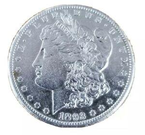 1893-CC-Morgan-Silver-Dollar-AU-Cleaned-Beautiful-Key-Date-Coin