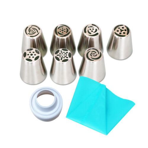 Set Rose Flower Icing Piping Tips Nozzle Cake Cupcake Decorating Pastry Tool