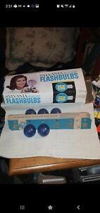 5  (22)Vintage Sylvania Blue Dot Flashbulbs Press 25B, 3(34) #25's