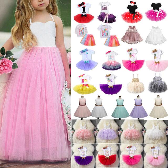 e967a93c46dd Kinder Mädchen Spitze Tutu Kleid Partykleid Hochzeitskleid Prinzessin  Abendkleid