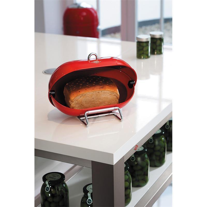 Wesco Single Breadboy Brotkasten rot mit Lüftungslöchern Lüftungslöchern Lüftungslöchern Brottopf 222101-02 | Exquisite Handwerkskunst  1d6487