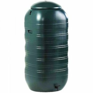 Ward Slimline Green Plastic Water Butt including Lid and Tap - 250 Litre GN340
