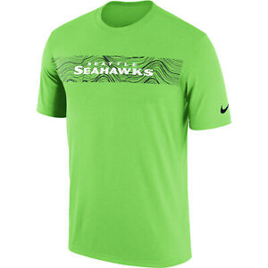 Nike-Seattle-Seahawks-Sideline-Seismic-Legend-T-Shirt-2XL-XXL-Verde-Brillante