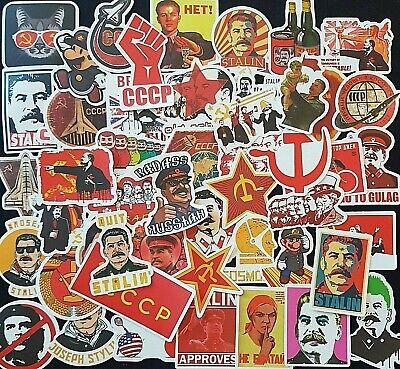 USSR Soviet Propaganda Stickers Stalin CCCP 25 PCE Skate Luggage Laptop Decal