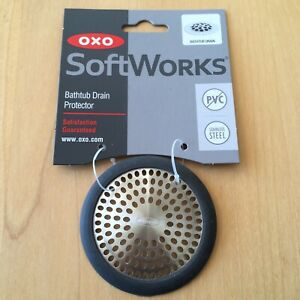 Oxo Softworks Bathtub Drain Protector Stainless Steel