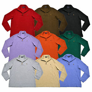 Polo Ralph Lauren Mens Sweater Estate Rib Mock Neck Pullover Pony ...