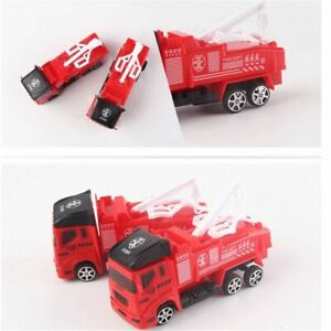 Details about Fire Truck Fireman Vehicle Car Pull Back Toy Car Model  Educational Toys Boy Kids