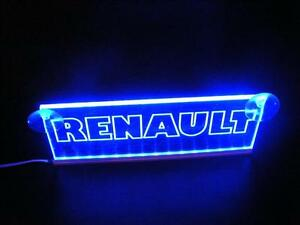Neon In Interieur : Renault led neon plate interior cabin blue light illuminating sign