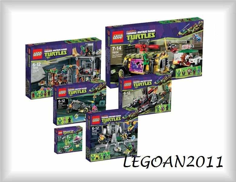 LEGO® Ninja Turtles™ Komplett 79100 79101 79102 79103 79104 Turtels TMNT Neu OVP
