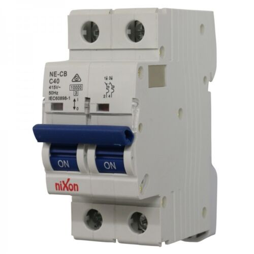 40amp 2 pole 10ka mcb circuit breaker ebay circuit breaker box 40amp 2 pole 10ka mcb circuit breaker