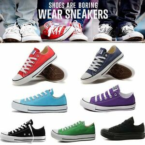 ALL STARs Women's Chuck Taylor Ox Low High Top shoes casual Canvas Sneakers IT