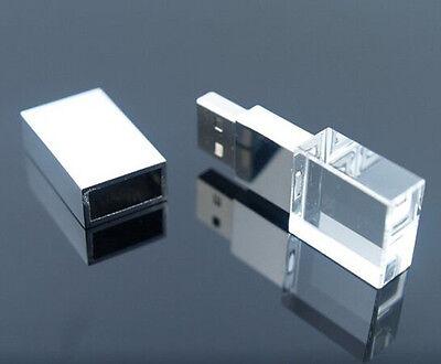 3D Inside Logo Custom Photography Glass Crystal USB Flash Drive 2.0 2-32gb Gift