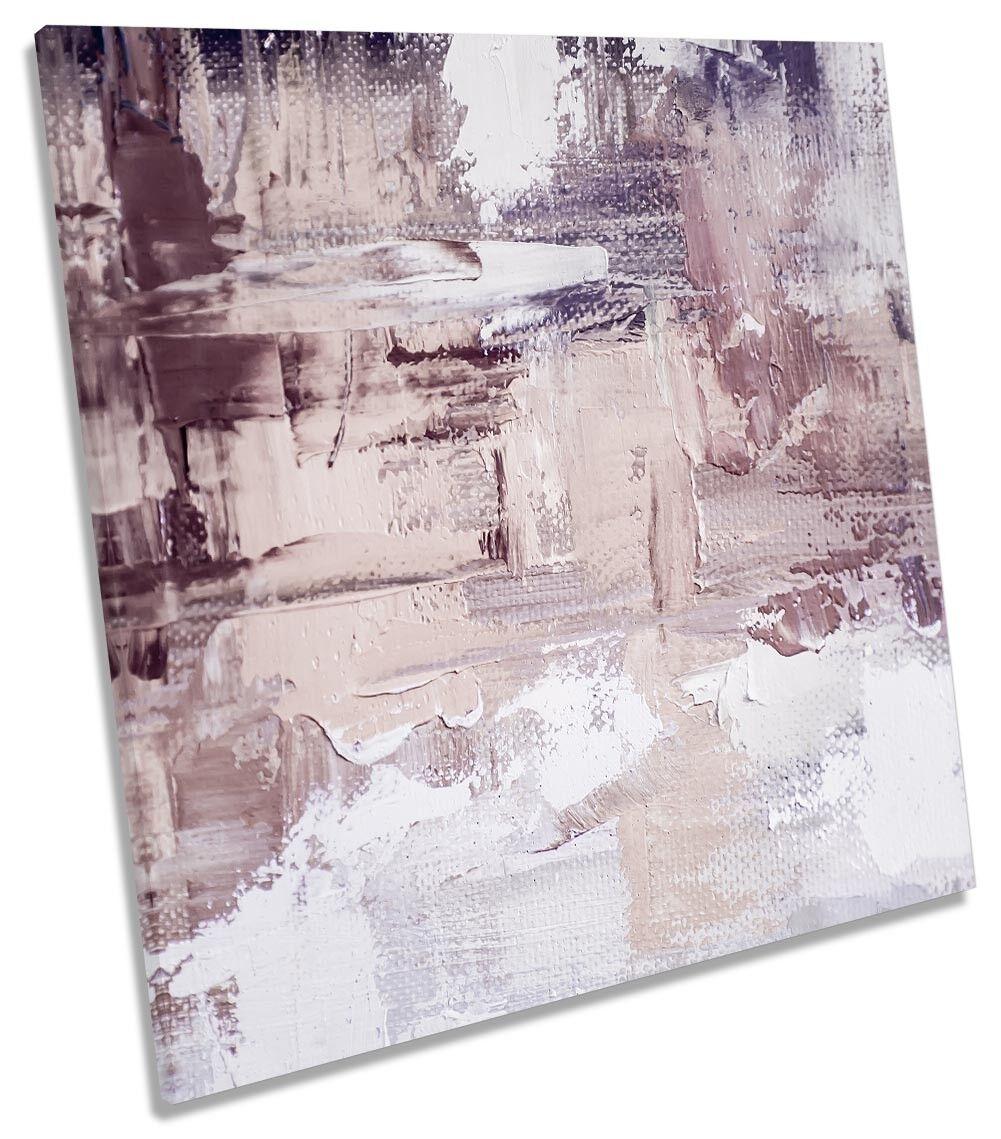 Abstract grau Print Strokes CANVAS WALL ARTWORK Square Art Print