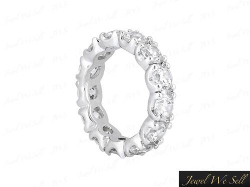 2.55Ct Round Cut Diamond U-Prong Wedding Eternity Band Ring 14k White Gold GH I1